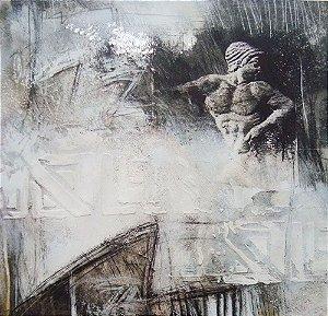 Top Art Milano - Night Figure I, Arte em Gravura, Bela Estampa com Serigrafia e Relevo
