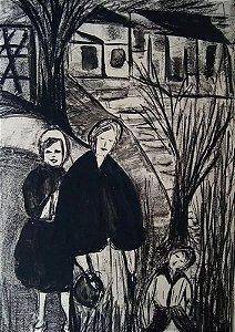 Elizabeth Kauffmann - Arte em Gravura e Nanquim, Assinada