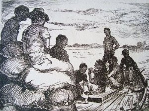José Silveira D'ávila - Arte em Gravura, Água Forte Original, Jogadores