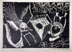 Trindade Leal -  Arte em Gravura Original Datada de 1964