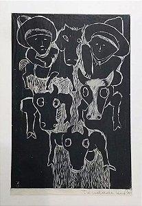 Trindade Leal - Arte em Gravura, Xilogravura Original Assinada