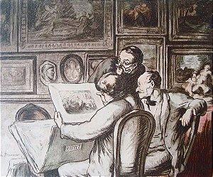 Quadro, Arte em Estampa Off-set Honoré Daumier - Collection Rhone-Poulec