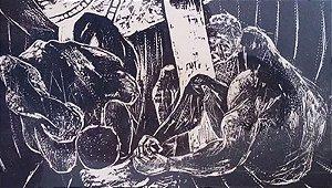 Quadro, Arte em Gravura Original, com Moldura