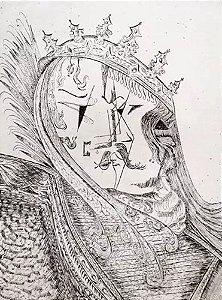 Boris Arrivabene - Quadro, Arte em Gravura, Prova de Artista, Assinada 1969