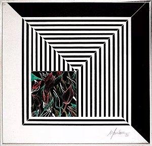 Luiz Mansour - Quadro, Arte em Gravura Assinada, Datada de 1993