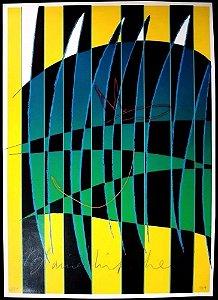 Blaine Mitchell - Arte em Gravura Assinada, Abstrato Geométrico