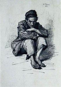 Antonio Piccinni - Belo Trabalho, Arte em Gravura Antiga, Assinada, Original de 1872