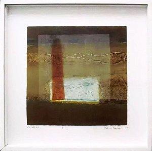 Patricia Kaufmann - Quadro, Arte em Gravura Original, Colografica, Prova de Artista