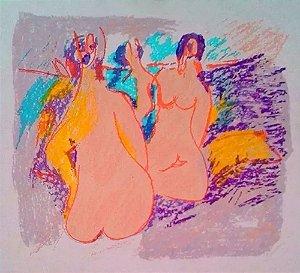 Augusto Rodrigues - Quadro, Arte em Gravura, Original, Assinada