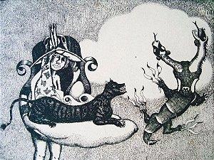Babinski -  Arte em Gravura Antiga Original, Assinada e Numerada