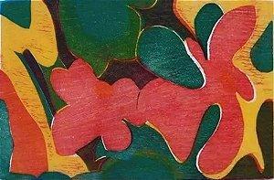 Iole Di Natale - Quadro, Arte em Gravura Original, Assinada, A Cor da Flor