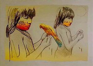 Élon Brasil -  Arte em Gravura Assinada, Meninas do Xingú