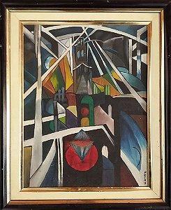 Quadro - Assinado PRI, Priscila, Pintura a óleo, Arte Abstrato, Decoração