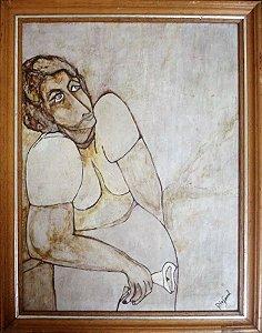 Quadro - Arte em Pintura, Técnica Mista, Assinado