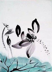 Massao Okinaka - Arte em Desenho Aquarela e Aguada, Assinado