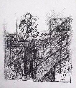 Obra Atribuída a Robert Calix  - Quadro, Arte em Desenho à Lápis, Figurativo