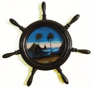 Quadro em Formato de Timão, Imagem com  Asa de Borboleta, Pintura, Rio de Janeiro