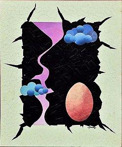 Etienne Stimal - Quadro, Arte em Técnica Mista, Colagem, de 1980