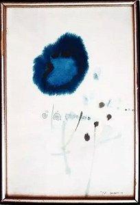 Quadro - Arte em Pintura Original, Aquarela, Assinada, Água Viva, de 1975