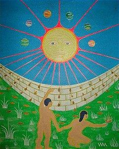 Quadro, Arte em Pintura, Óleo sobre Tela, Monogramado WM, Decoração
