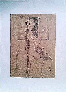 Edir Escarião - Quadro, Arte em Desenho sobre Papel, de 1981, Decoração