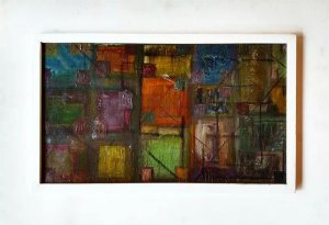 Quadro, Arte em Pintura, Óleo sobre Tela, Abstrato, Estilo Geométrico