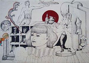 Bernardo - Quadro, Arte em Pintura, Técnica Mista sobre papel, de 2001