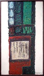 Masayoshi Ogasawara - Quadro, Arte em Pintura, Técnica Mista sobre Tela, de 1971