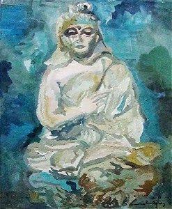 Quadro Decorativo - Arte em Pintura, Óleo sobre Cartão, Divindade, Deusa