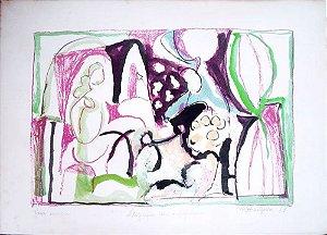 Martins de Porangaba -  Arte em Gravura, Litografia com Interferência, Assinada