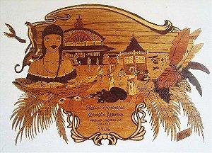 Afonso Lacerda - Quadro Decorativo, Arte em Marchetaria, Mercado de Manaus, de 1994