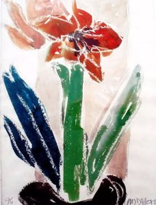 Luis D'horta - Quadro, Arte em Pintura, Aquarela Assinada, Datada de 1996, Emoldurada