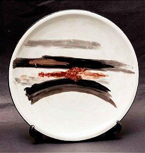 Manabu Mabe - Prato Porcelana Pintado P/ Galeria Barcinski