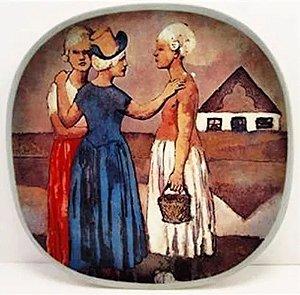 Pablo Picasso - Prato Decorativo em Cerâmica, Three Dutch Women, Edição Limitada de 1973