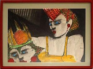 Geraldo Ferreira - Quadro, Arte em Pintura, Técnica Mista S/ Eucatex, Assinado