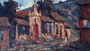 Luizi di Paula - Quadro, Arte em Pintura Óleo S/ Tela, Assinado, Localizado Cananéia