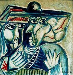 Ramanefer - Quadro, Arte em Pintura Abstrata, Óleo s/ Eucatex, Assinada, de 1983