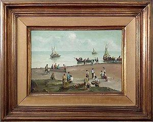 Vicenzo Cencin - Marinha -  Quadro, Arte em Pintura, Óleo S/ Tela, Assinado