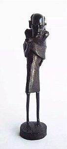 Escultura Africana em Madeira Ébano, Figurativo Homem