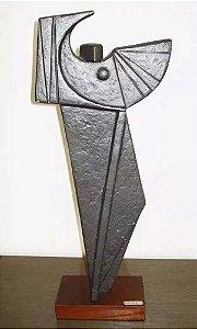 Nelide Bertolucci - Escultura em Metal, Mulher Alada,  Assinada e Numerada