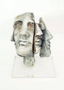 Atribuído a Marta Minujín - Escultura em Cerâmica, Representação de Rosto Fragmentado, 1985