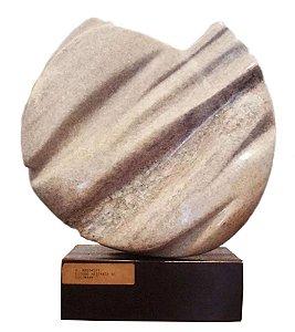 Henrique Radomsky - Grande Escultura em Mármore Assinada, Estudo Abstrato