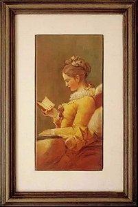 Isolina - Quadro, Arte em Pintura sobre Azulejo, Assinada, Imagem de Dama Antiga