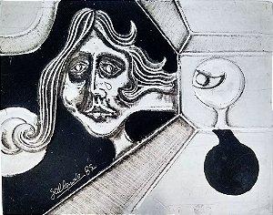 Gallardo - Quadro, Arte em Pintura em Relevo S/ Alumínio, Assinada, 1987