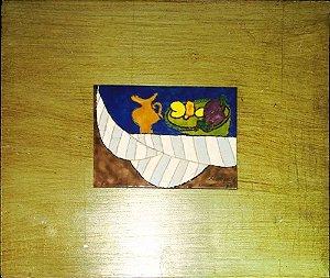 Carlos Marques - Quadro, Arte em Pintura, Esmalte S/ Metal, Assinada, 1979