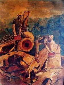 Max - Quadro, Arte em Pintura Original, Óleo S/ Eucatex, 1983