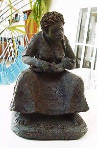 Zé do Carmo - Mãe Preta - Escultura Em Barro Cozido
