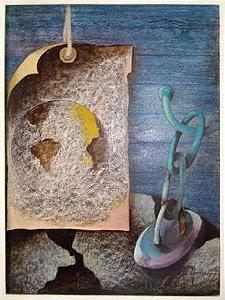 Jorge Carneiro - Quadro, Arte em Pintura Original, Óleo S/ Eucatex, Assinada, Intento, 1978