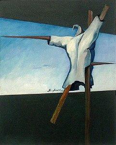 Décio Soncini - Quadro, Arte em Pintura, Óleo S/ Tela, Original,  Assinada, O Guardião, 1977