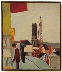 J. Felix - Quadro, Arte em Pintura, Óleo S/ Tela, Original, Assinada, Expressionismo